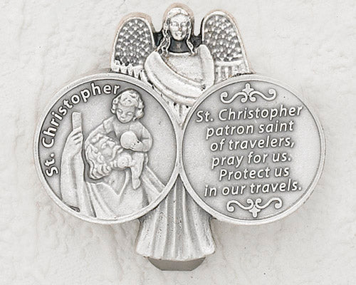 3-Pack - CAR VISOR- Saint Christopher with Angel
