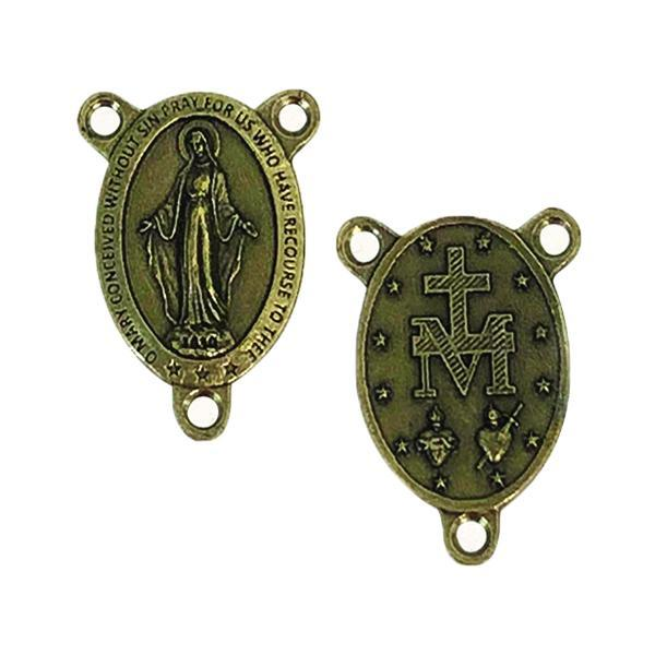 Brass Rosary Center  - Miraculous Medal