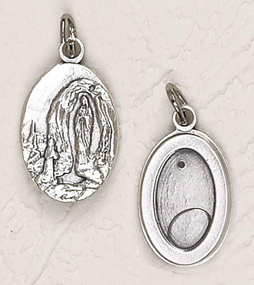 Water from Lourdes Silver Tone Medal