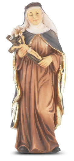 "4"" Saint Catherine of Sienna Resin Statue"