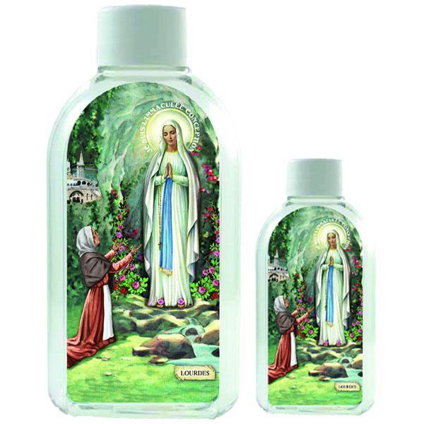 Small Plastic Holy Water Bottle - Lady of Lourdes