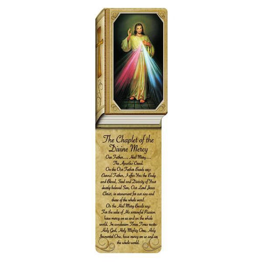 Book Shaped Laminated Bookmarks - Divine Mercy