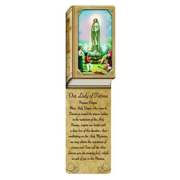 Book Shaped Laminated Bookmarks - Our Lady of Fatima