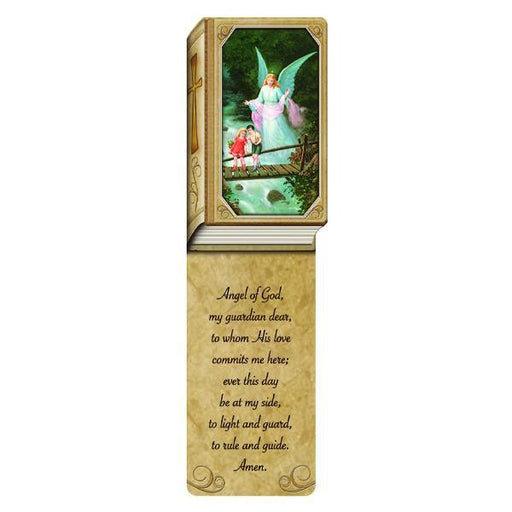 Book Shaped Laminated Bookmarks - Guardian Angel