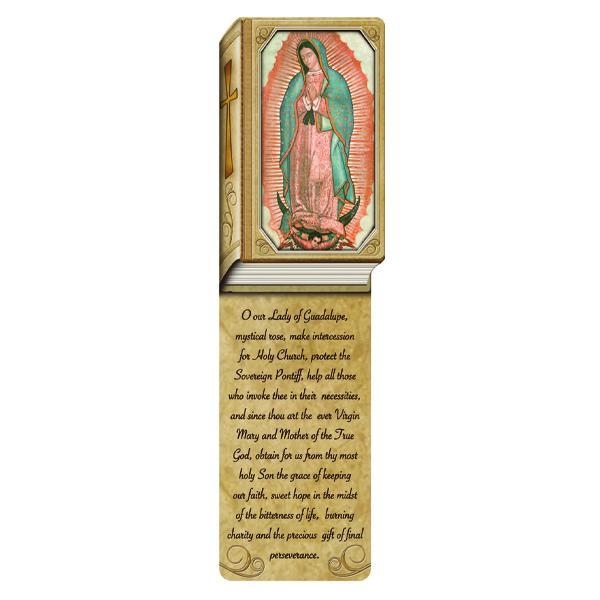 Book Shaped Laminated Bookmarks - Our Lady of Guadalupe