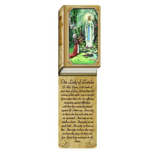 Book Shaped Laminated Bookmarks - Our Lady of Lourdes
