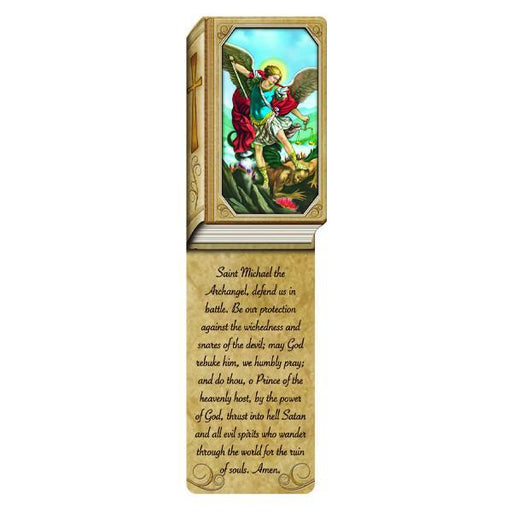 Book Shaped Laminated Bookmarks - Saint Michael