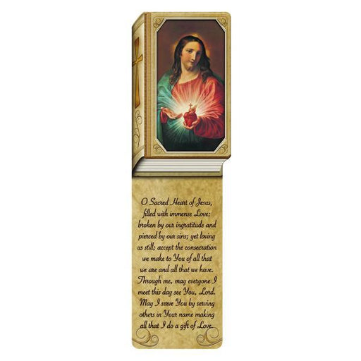 Book Shaped Laminated Bookmarks - Sacred Heart