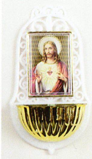Sacred Heart Holy Water Font 3-Pack