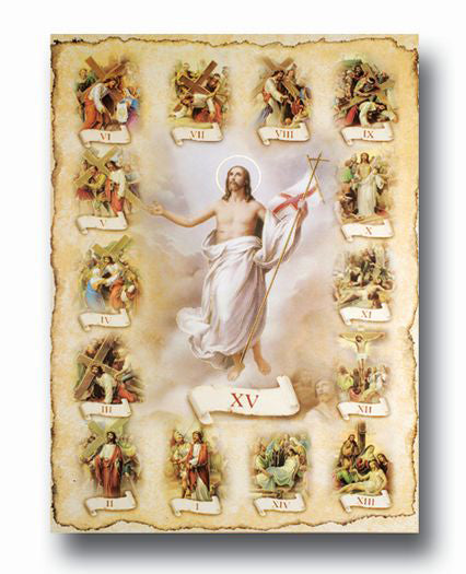Station Of The Cross 19 X 27  Poster