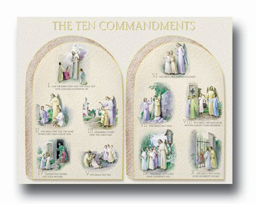The 10 Commandments 19 X 27  Poster