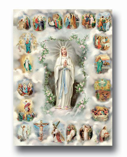 Mysteries Of The Rosaries 19 X 27  Poster