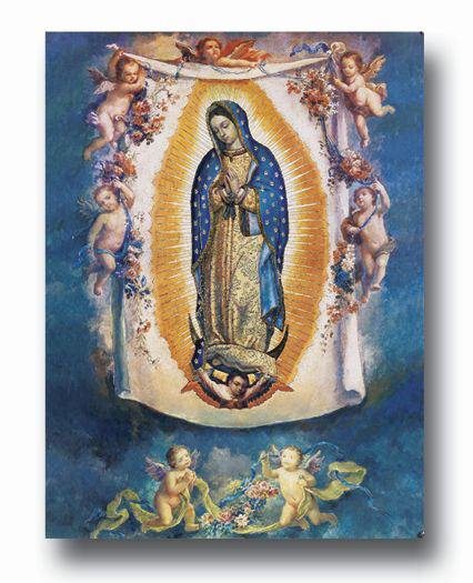 Ol Guadalupe With Angels Poster 19 X 27