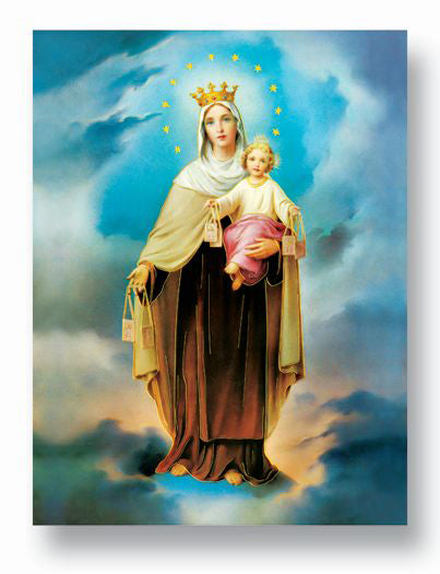 19 X 27  Our Lady Of Mt Carmel Poster