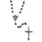Wooden Rosary with Silver-tone Crucifix - Round Light Wood Beads
