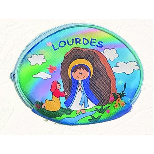 Lady of Lourdes Vinyl Rosary Pouch