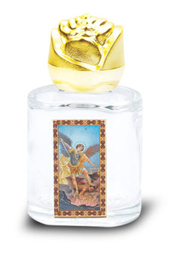 St Michael Holy Water Bottle with Bonella Art