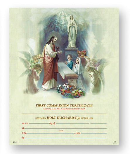 1St Communion Certificate 50-Pack
