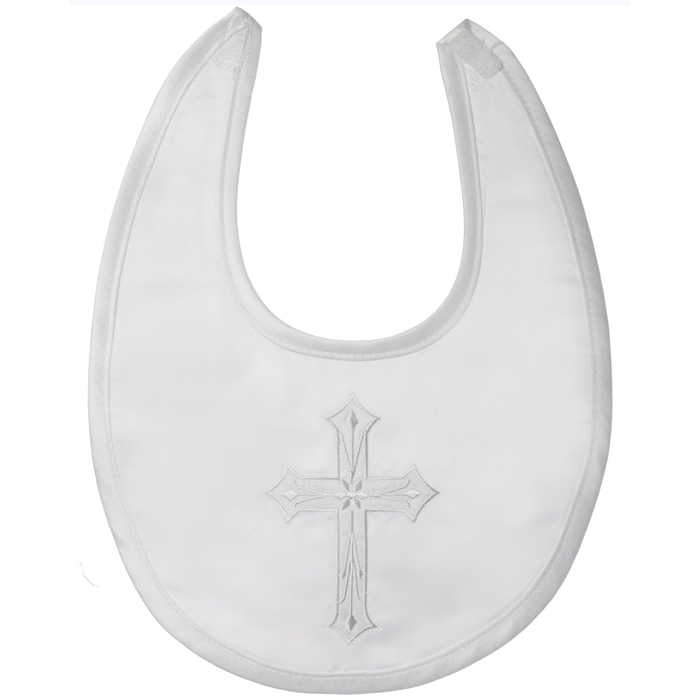 Baptism Satin with embroidered cross