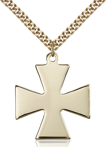 Gold-Filled Surfer Cross Necklace Set