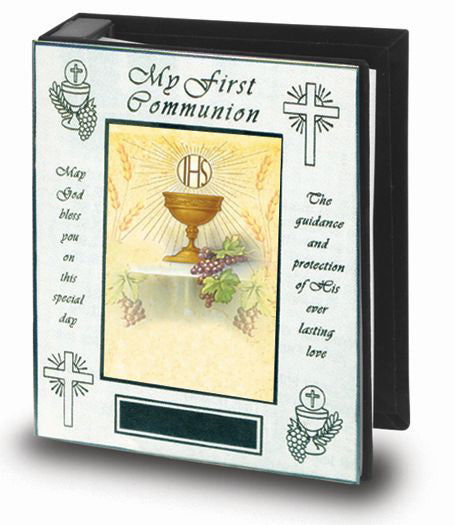 My First Communion Polished Brass Photo Album