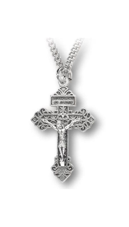 Pardon Crucifix On 24-inch Stain- Less Steel Chain Boxed