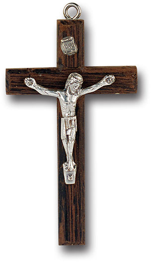 2 1/2-inch Wood Cross With Metal Crucifix
