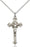 Sterling Silver Crucifix Necklace Set