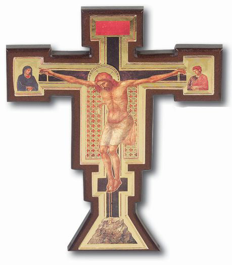 18-inch Giotto Cross Of Christ With Gold Dilt