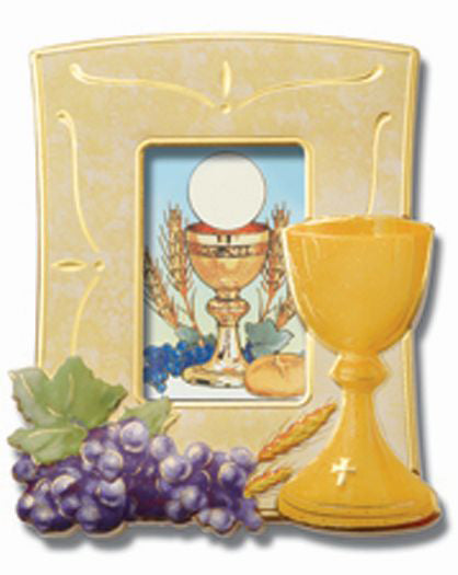 Communion Frame With Chalice And Grapes