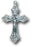 1 1/2-inch Oxidized Crucifix 25-Pack