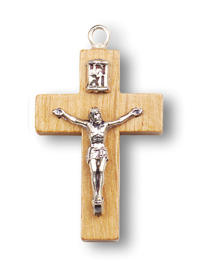 1 1/4 Wood Cross with Metal Crfx 25-Pack