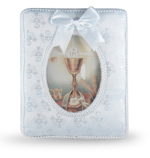 Communion Photo Frame With Satin Cloth Cover