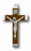 10-Pack - 2-inch Nickle Bound Crucifix With Maroon Insert