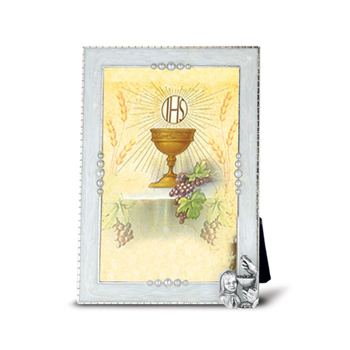 Communion Girl With Chalise Pearlized Picture Frame