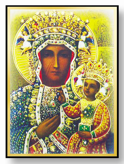 4-Pack - Our Lady Of Czestochowa Gold Embossed Mag Frame/Easel