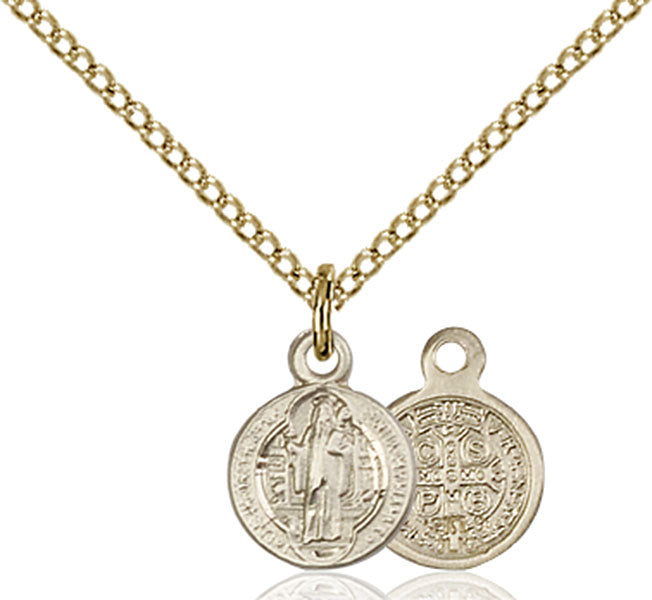 Gold-Filled Saint Benedict Necklace Set