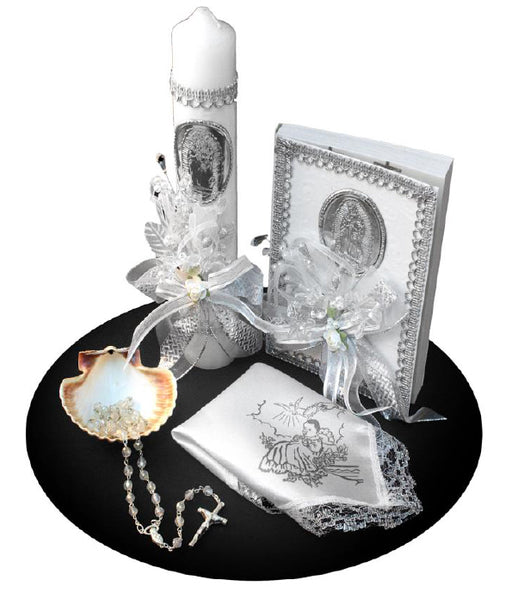 Baptism 'Our Lady Of Guadalupe' 6pc Gift Set with Spanish New Testament