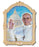 3 3/4-inch Pope Francis Wooden Plaque With Gold Leaf Stamping