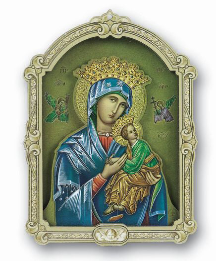 Cathedralm 0-inch Plaque Of Our Lady Of Perpetual Help