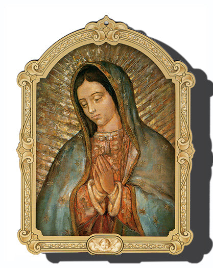 Cathedral 9-inch Our Lady Of Guadalupe Plaque