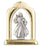 10-Pack - Divine Mercy 1.5-inch Arched Gold And Silver Standing Plaque