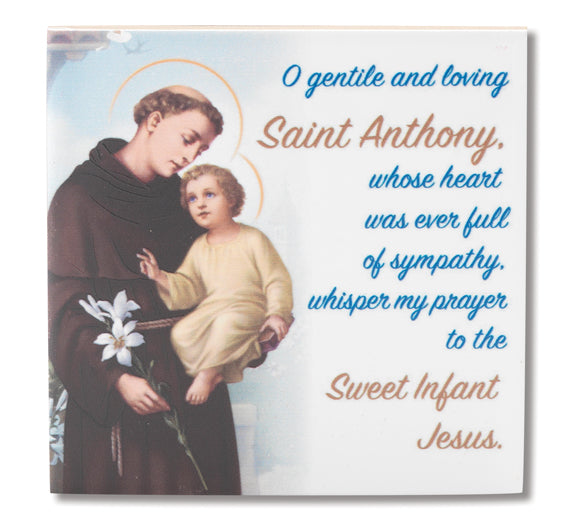 4X4 Saint Anthony Hanging Ceramic Tile