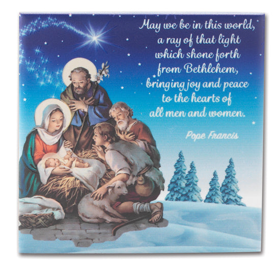 4X4 The Nativity Hanging Ceramic Tile