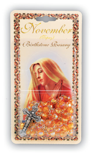 November-Topaz Birthstone Rosary
