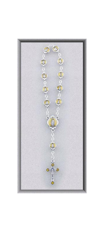 One Decade Our Lady Guadalupe Rosary Beads/Ol Guadalupe Mdl