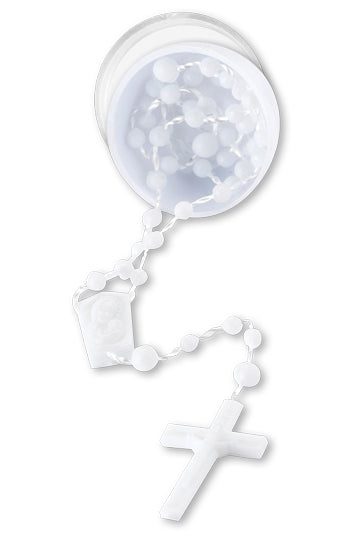Rosary In Plastic White Egg 10-Pack