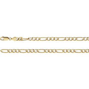 7-inch Figurinearo Bracelet - 14K Yellow Gold