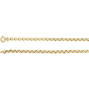 24-inch Rolo Chain with Spring Ring - 14K Yellow Gold