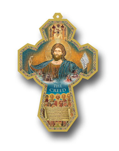 5-inch Gold Embossed Year Of Faith Wood Cross